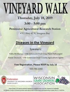 poster of vineyard walk
